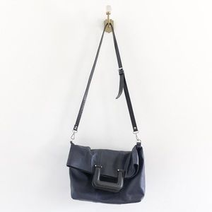 Zara Navy Square Handle Crossbody Bag